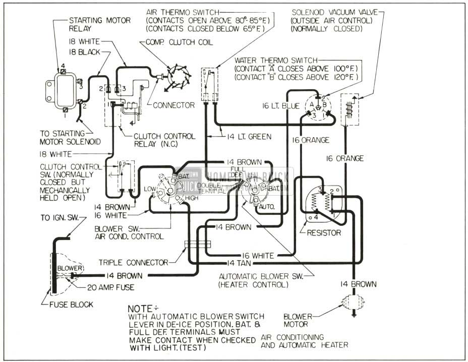Contactor Ac Unit Diagram 1959 Buick Heater And Air Conditioner Hometown Buick