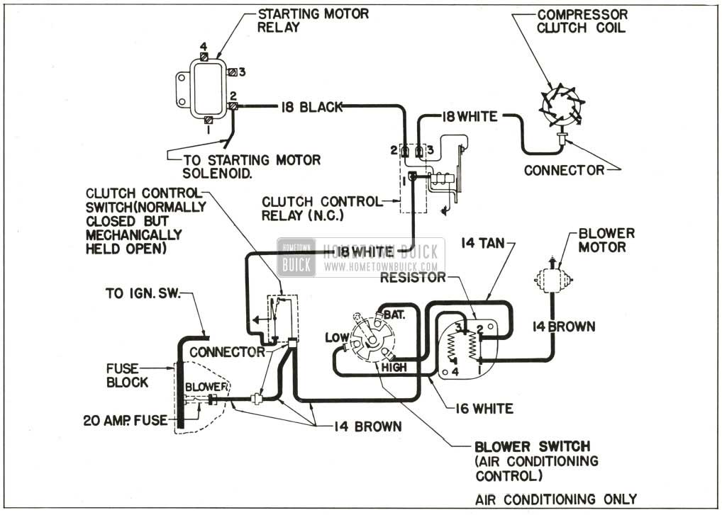 Auto Air Conditioner Wiring Diagram