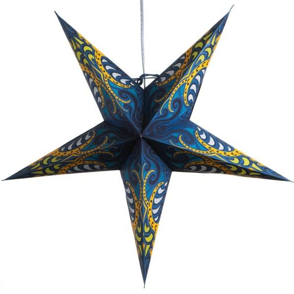 Blue obssession paper star lamp