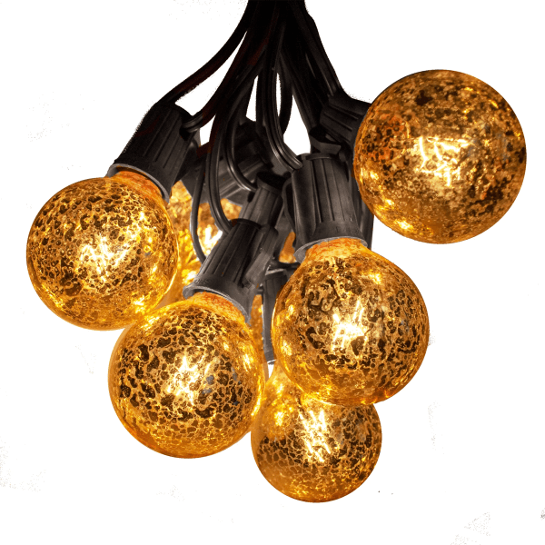 g50 gold string lights black wire