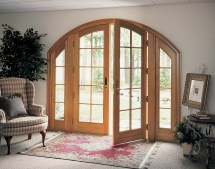 French Door with Arch Window