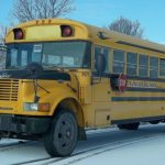 School bus in the ditch in Rideau Lakes – No injuries
