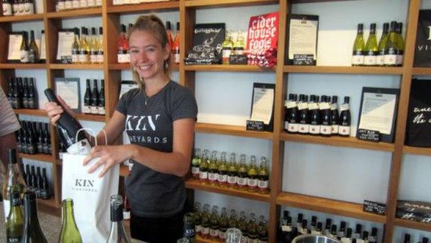 KIN Vineyards cashier.
