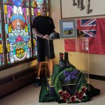 Vimy Ridge boots on display at Perth's Hall of Remembrance