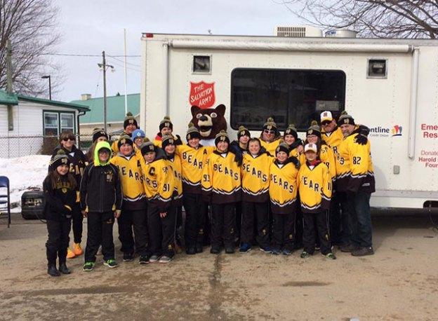 Smiths Falls Pee Wee Bears hockey team.