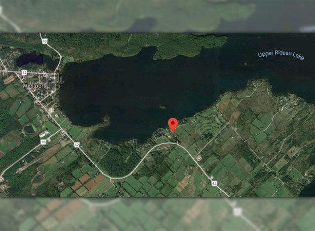 Map of where the woman drove off the boat launch.