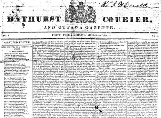 A digital image of the oldest known surviving Perth newspaper