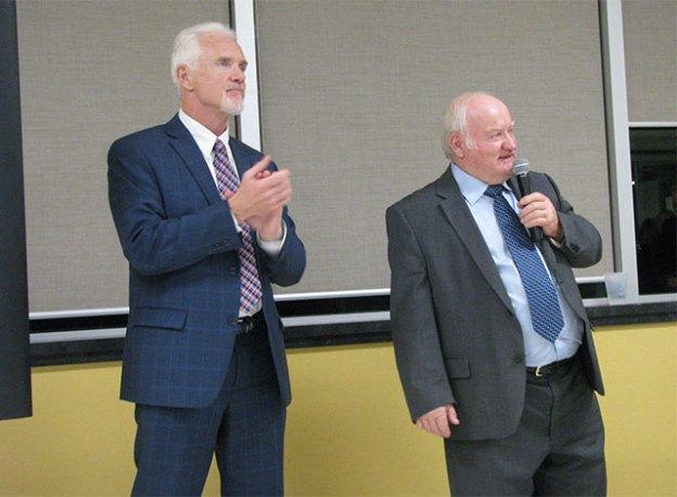Mayor-elect Shawn Pankow and Joe Gallipeau