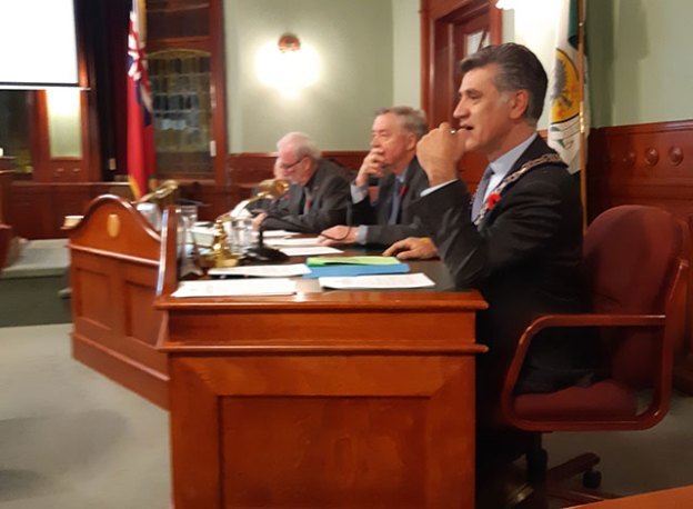 October 30 council meeting