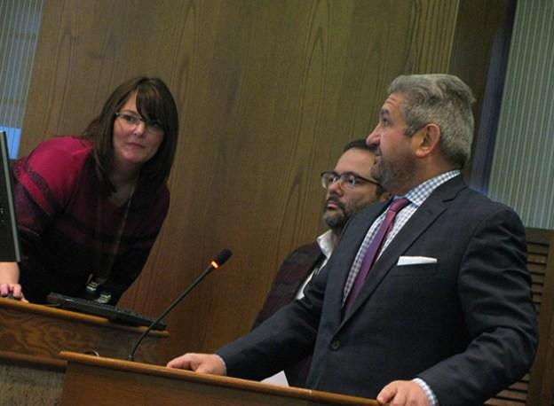Smiths Falls Deputy Clerk Nadine Bennet, Mario Castillo and Sean Webster