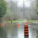 Flooded roads in Lanark County