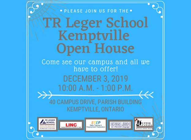 TR Leger Kemptville Campus Open House on December 3, 2019