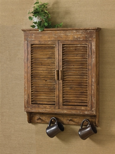 Farmhouse Cabinet  Rustic Wall Cabinet  Park Designs