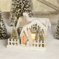 Kitchen Cart White Delta Single Handle Faucet Installation Cardboard Christmas House | Glitter Bethany Lowe
