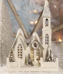 Cardboard Church  Christmas Church  Bethany Lowe