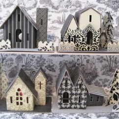 How To Decorate Your Kitchen Cabinets Black Putz Village Kit   Glitter House Amy Smith