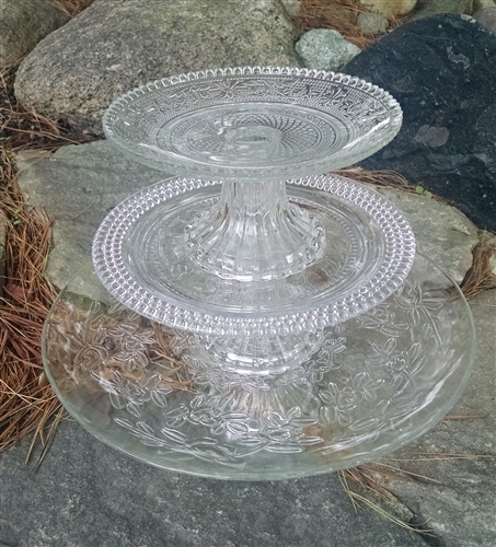 high top kitchen table set average price for new cabinets glass cake plates | stacking park hill ...
