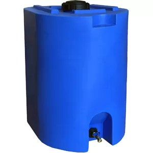 WaterPrepared Blue 55 Gallon Water Storage Tank