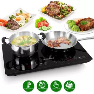 NutriChef Double Induction Cooktop