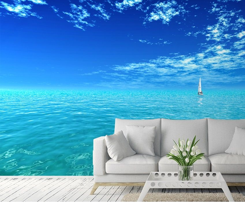 Blue ocean wall murals  Homewallmuralscouk