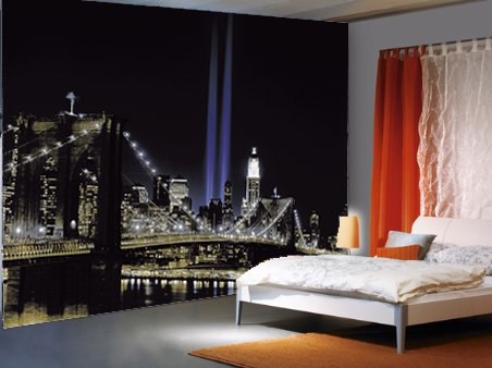 Walltastic Disney Cars Wallpaper Mural New York Brooklyn Bridge Wall Murals Homewallmurals