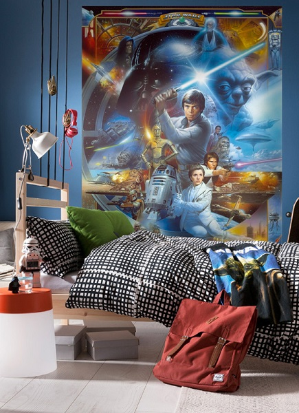 Walltastic Disney Cars Wallpaper Mural Luke Skywalker Collage Star Wars Wallpaper