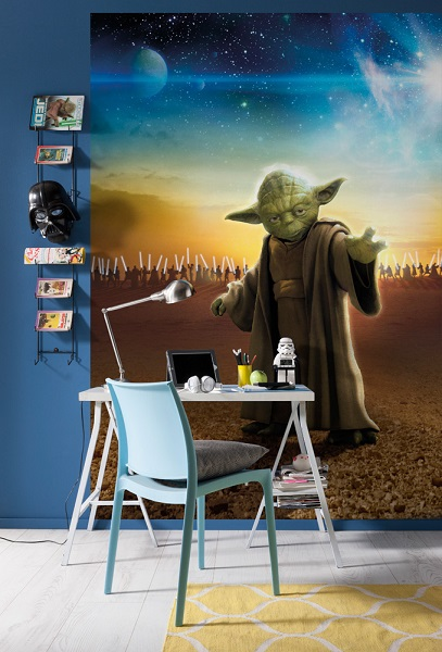 Walltastic Disney Cars Wallpaper Mural Star Wars Master Yoda Wall Mural
