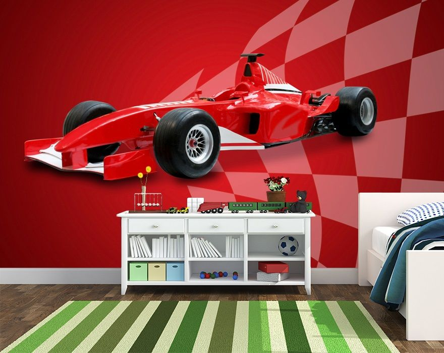 Audi is proposing a novel shopping experience with its new digital 'cyberstore' Wallpaper For Kids Bedroom Wall Red Sports Car