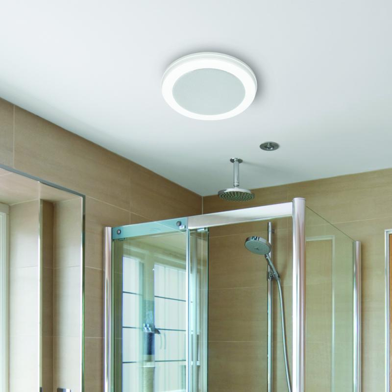 Bath Fan With Led Light And Bluetooth Speaker 100 Cfm 1 5 Sones Homewerks Worldwide