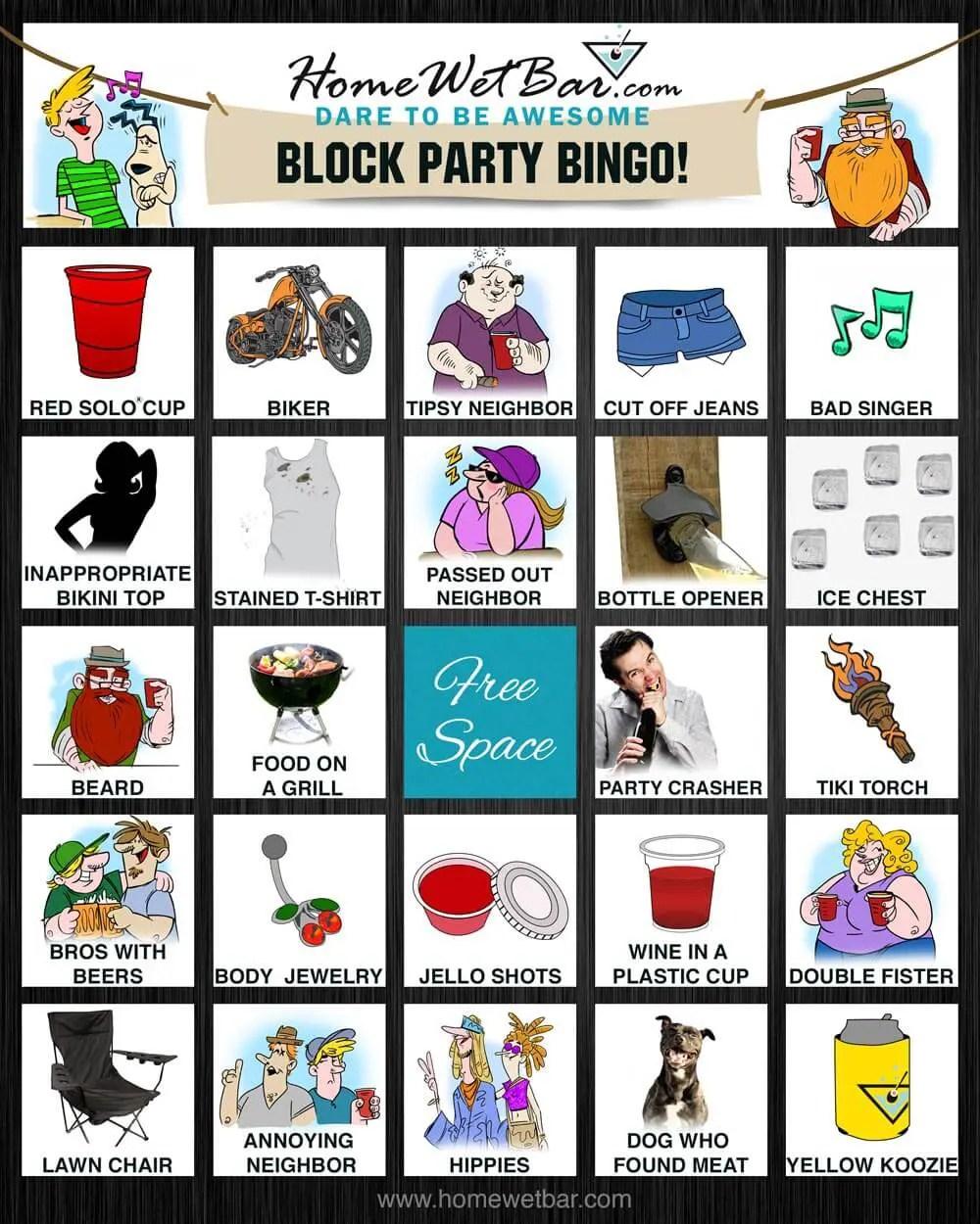 Block Party Bingo