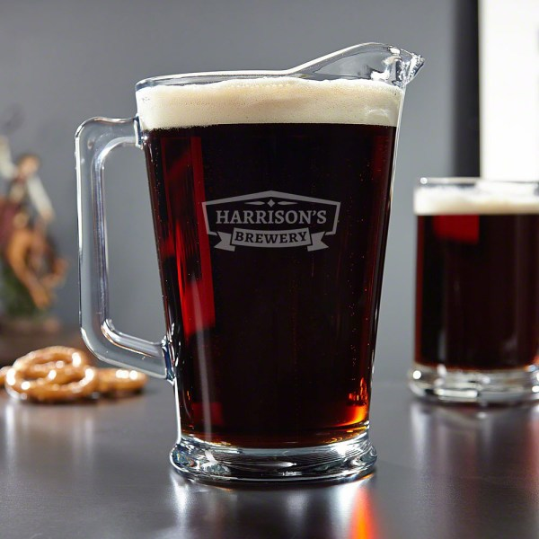 Classic Brewery Personalized Glass Beer Pitcher
