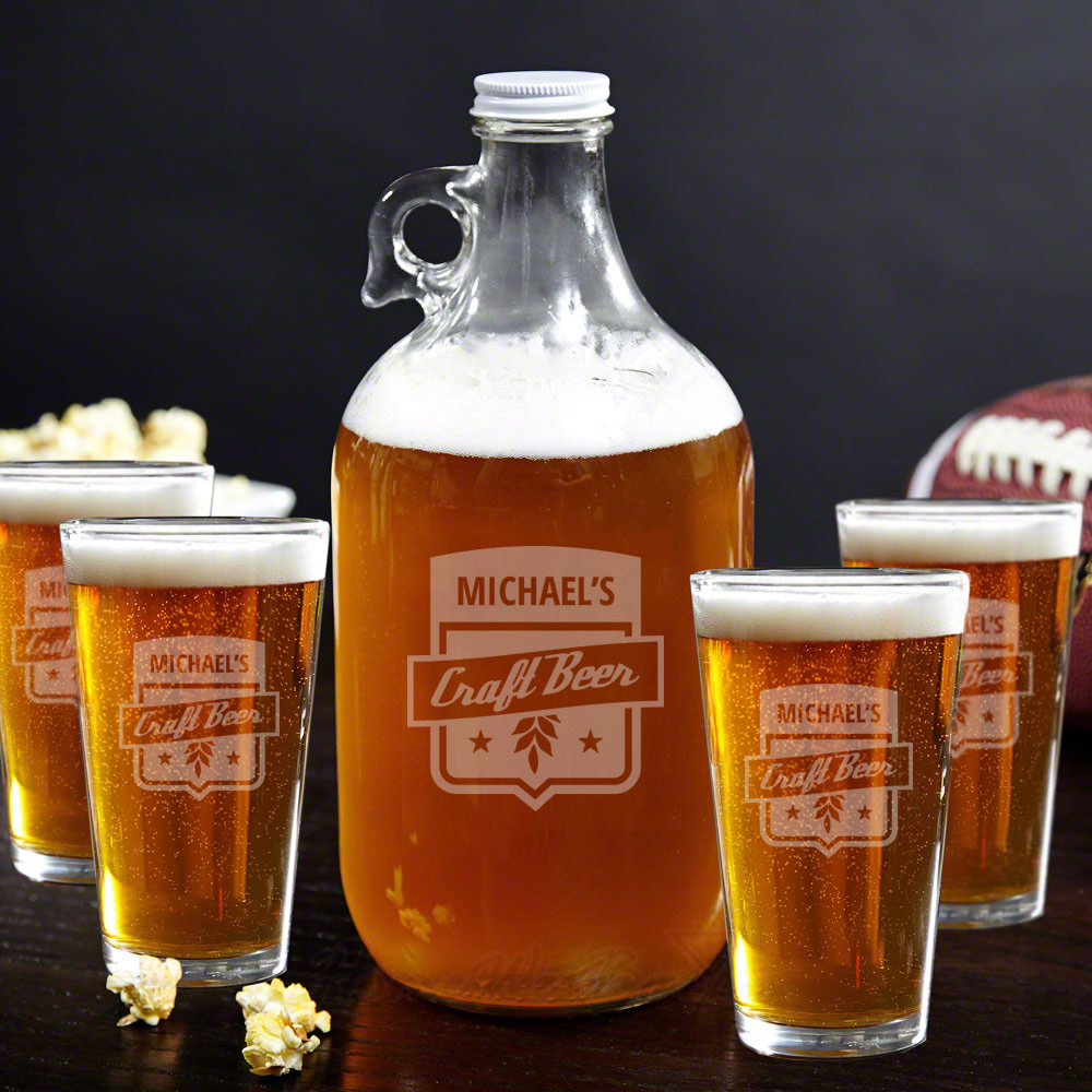 craft beer growler glass