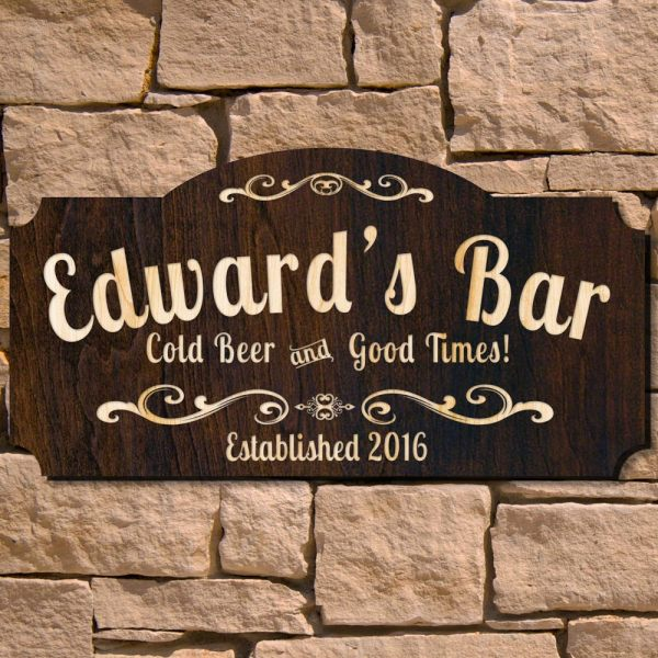Good Times Wooden Pub Sign Signature Series