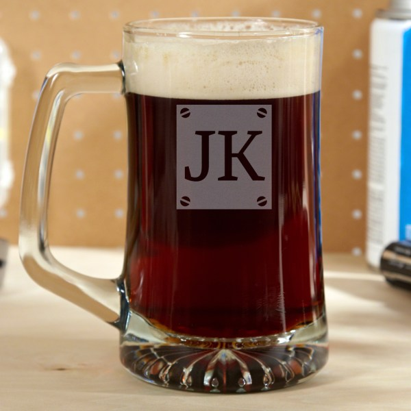 Screw & Brew Engraved Beer Mug