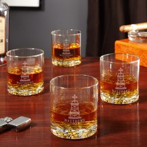 Military Engraved Whiskey Glasses - Year of Clean Water