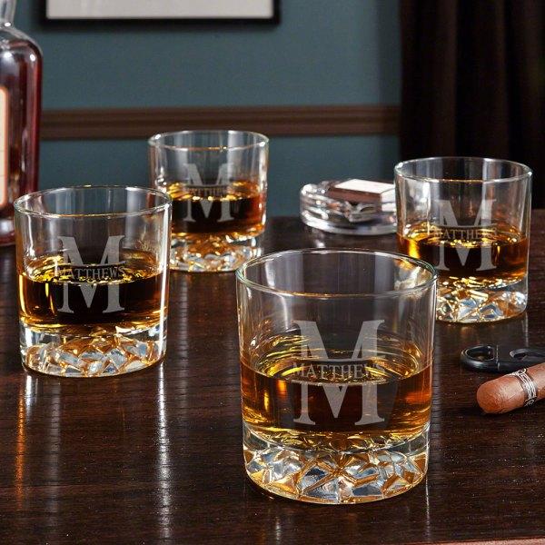 Personalized Whiskey Glasses Set