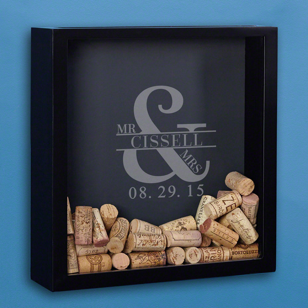 outdoor kitchen cart black and white towels love & marriage custom wine cork shadow box