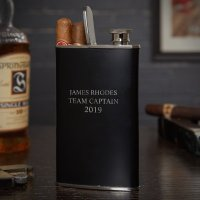 Stainless Steel Personalized Cigar Holder Flask