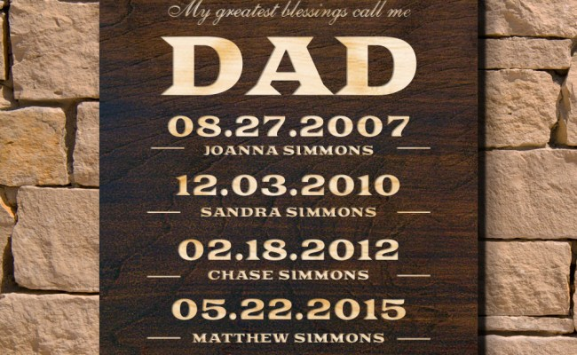 Dads Greatest Personalized Wall Sign Signature Series