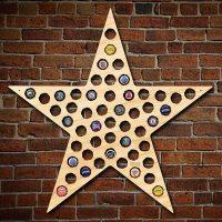 Five Point Texas Star Bottle Cap Holder