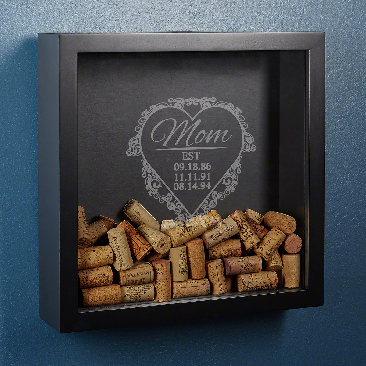 Love for Mom Wine Cork Holder Shadow Box