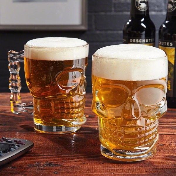 Skulls Of Doom Beer Skull Mugs Set 2