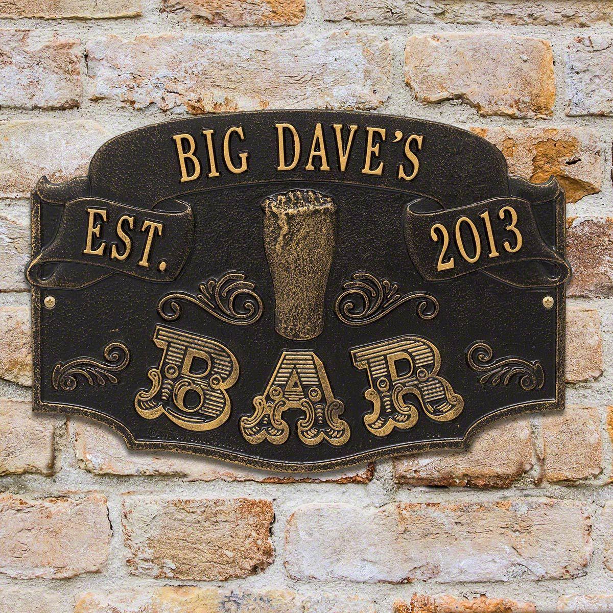 established bar personalized house