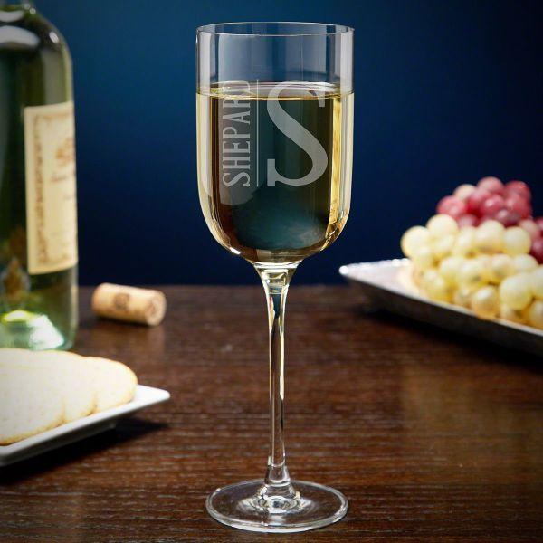 Elton Custom Long Stem Tall Wine Glass White