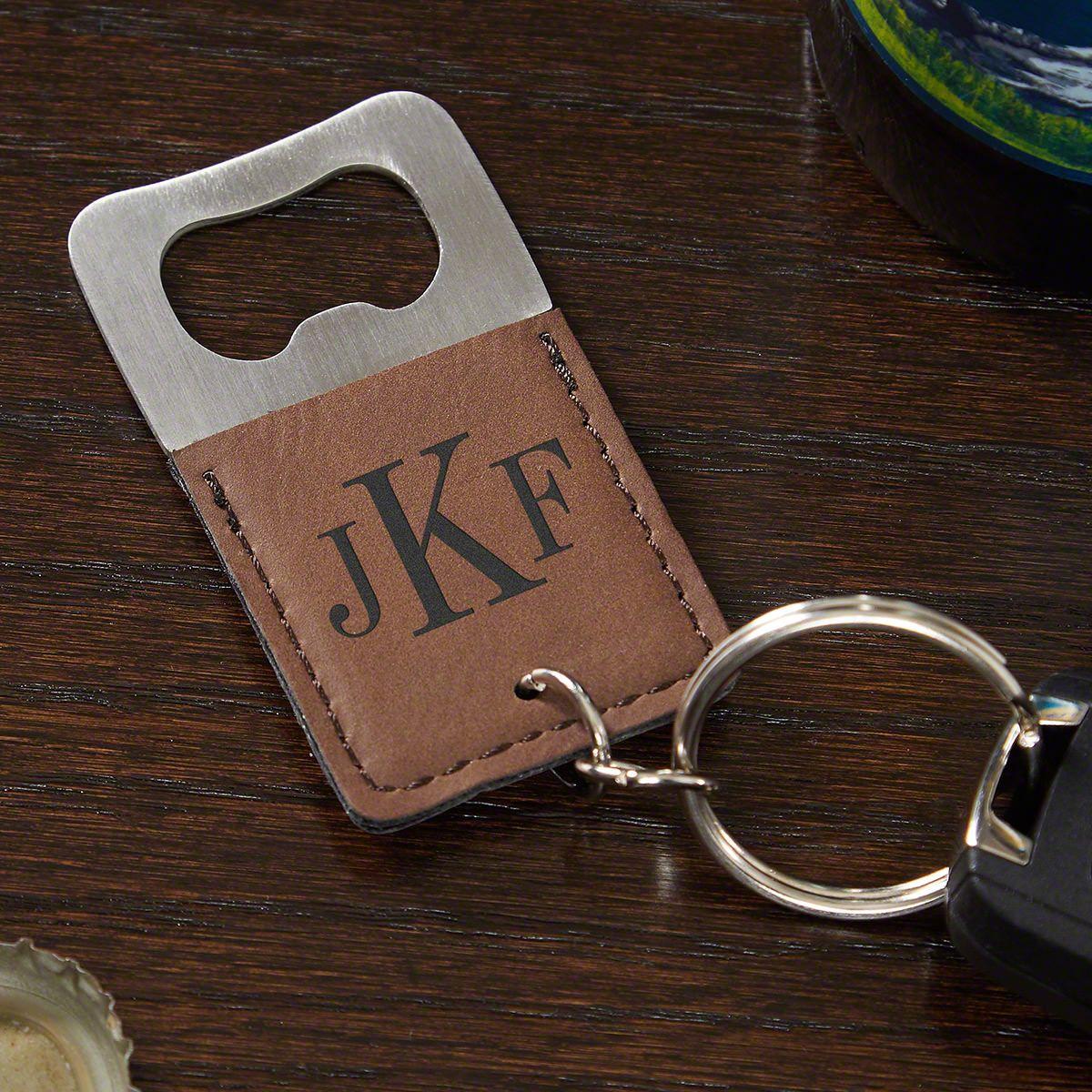 classic monogram personalized keychain