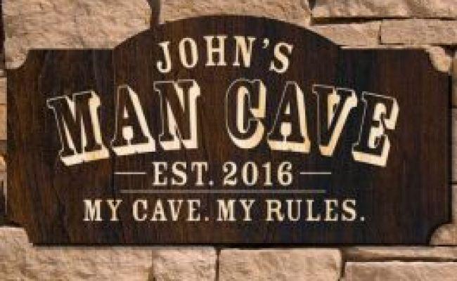 Man Cave Custom Wooden Sign Signature Series