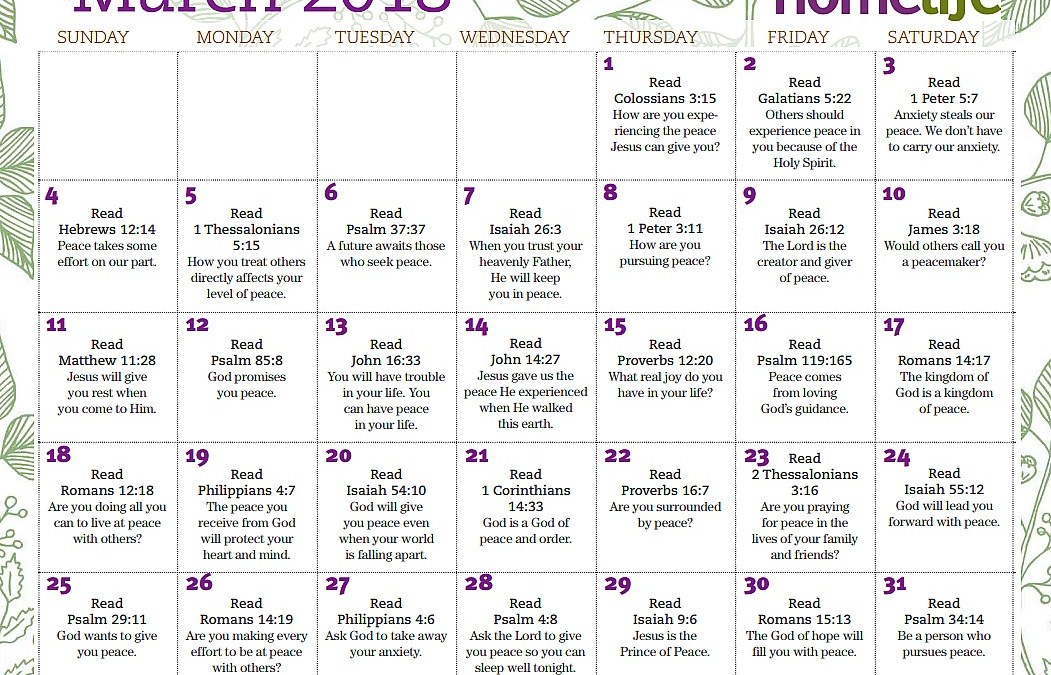 March Monthly Devotional and Tips for Starting a Bible Study