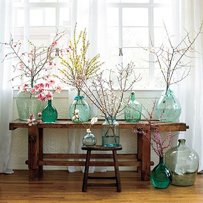 How to Decorate with Flowering Branches