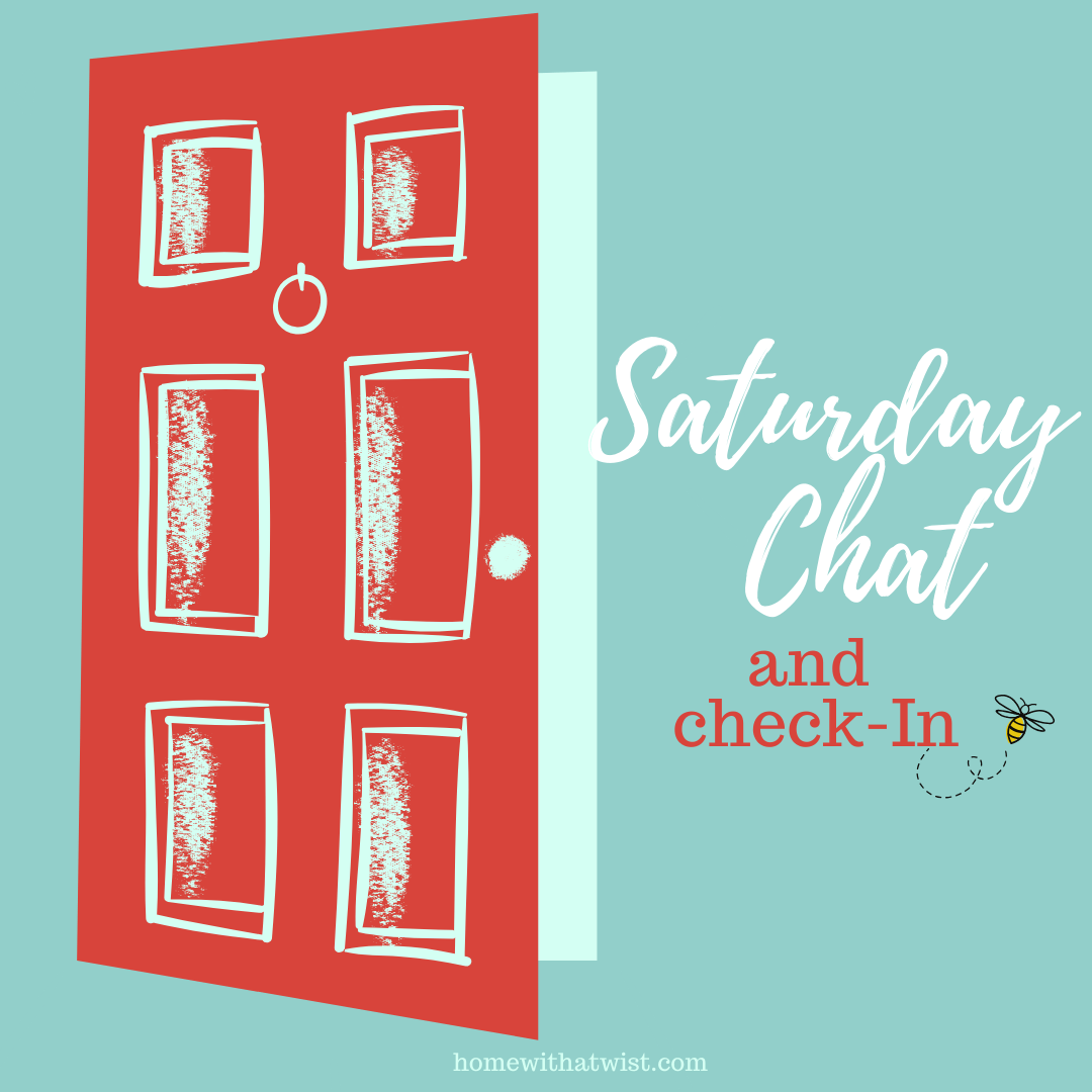 Saturday Chat and Check-in: Coming from my Vanity!