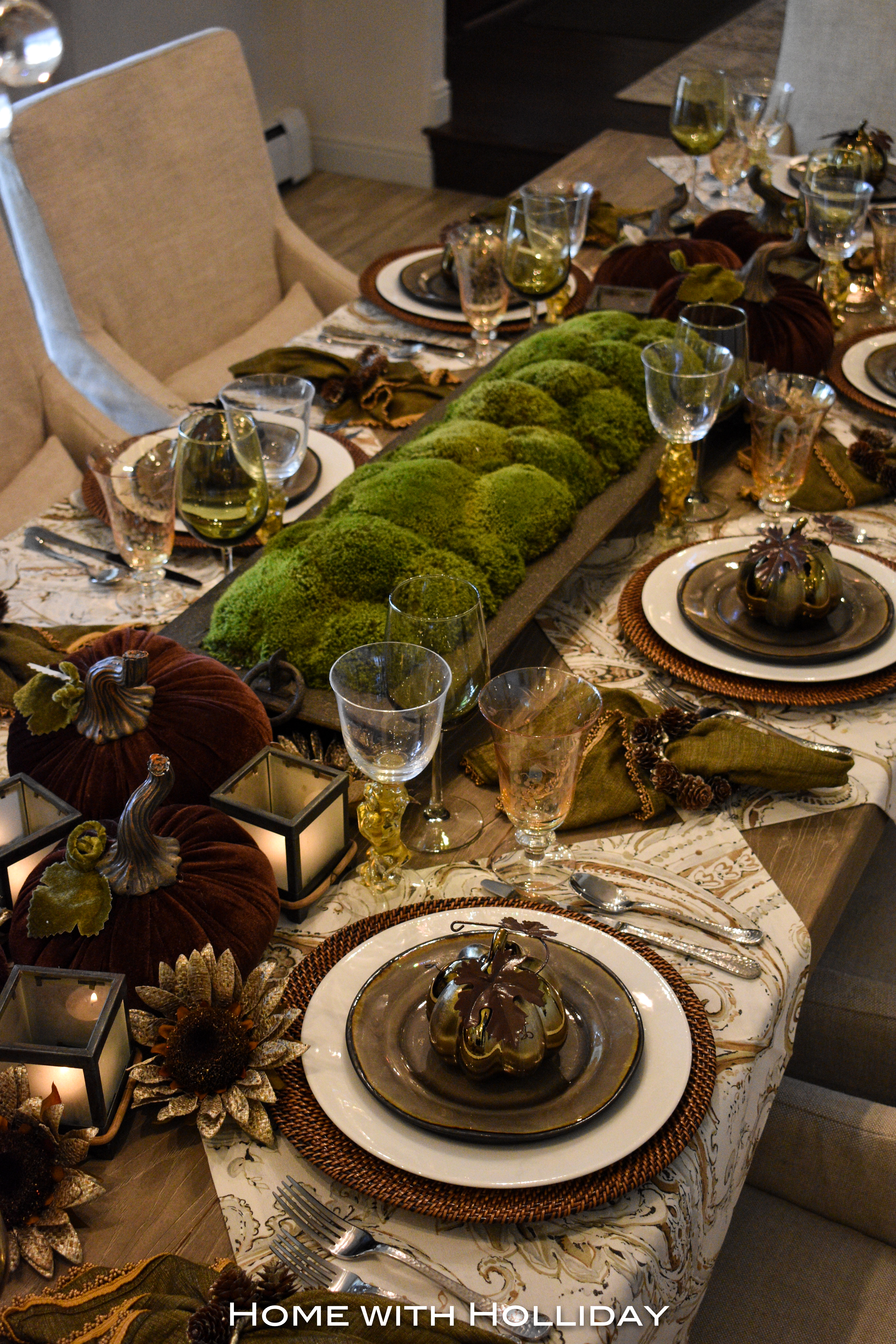 Rustic Fall or Thanksgiving Table Setting